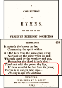 Wesleyan Church Hymnal Alcohol